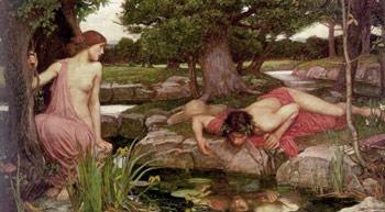 John William Waterhouse, Eco e Narciso (1903)