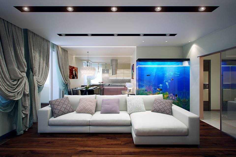 small apartment sofa sectional bed mattress pad twin beautiful aquarium for living room ipc174 - unique ...