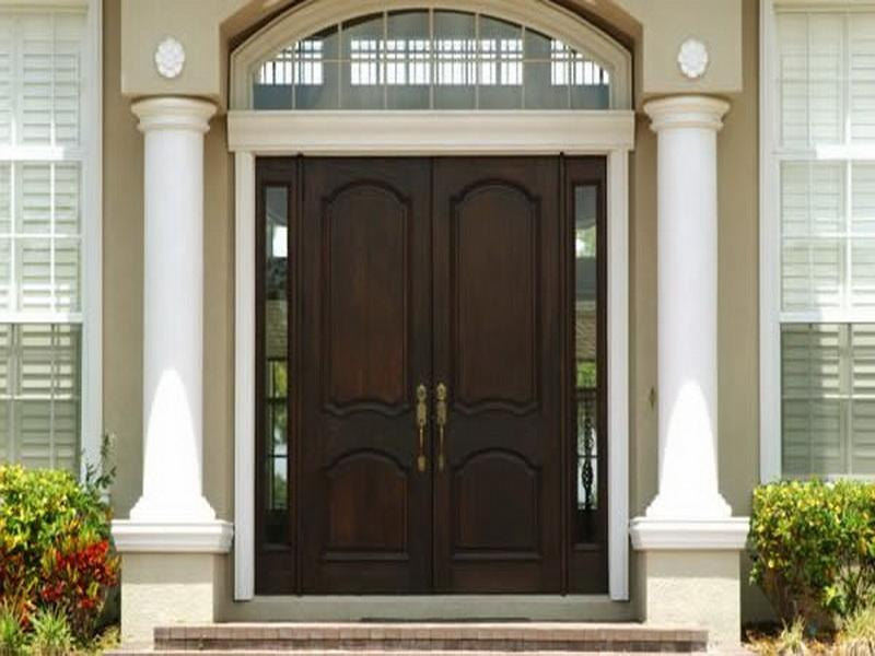 Modern Front Door With Side Panel Ipc453