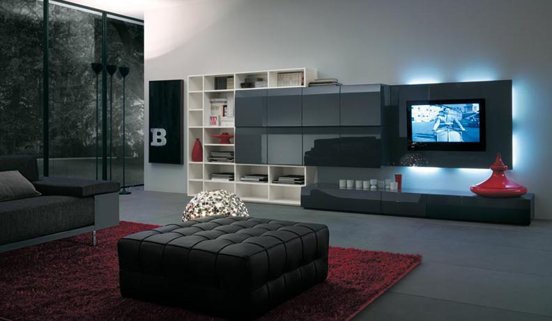 black wall units for living room pictures of small rooms designs modern italian lcd unit design ipc217 tv cabinet al habib panel doors