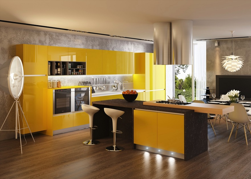 white gloss living room furniture grey carpet yellow kitchen cabinets ipc233 - kitchens with contrast ...