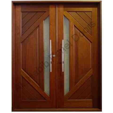 Pakistani Kail Solid Wood Double Door Hpd410 Main Doors Al