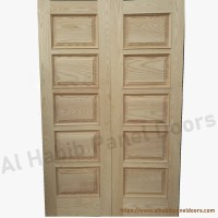 Ash Wood Double Door Hpd415 - Main Doors - Al Habib Panel ...