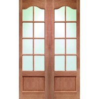 Glass Panel Double Door Hpd172