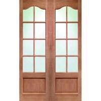 Glass Panel Double Door Hpd172 - Glass Panel Doors - Al ...