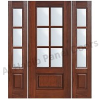 Glass Wooden Door With Frame Hpd480 - Glass Panel Doors ...
