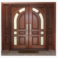 Solid Diyar Wood Double Door With Solid Sides Frame Hpd507 ...