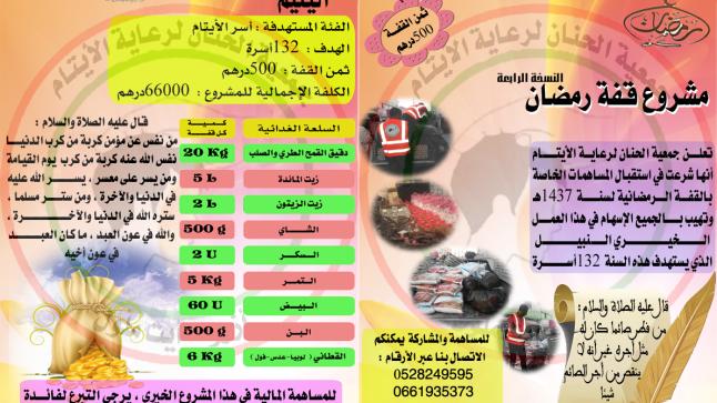 مشروع قفة رمضان لسنة 1437 هجرية 2016 ميلادية