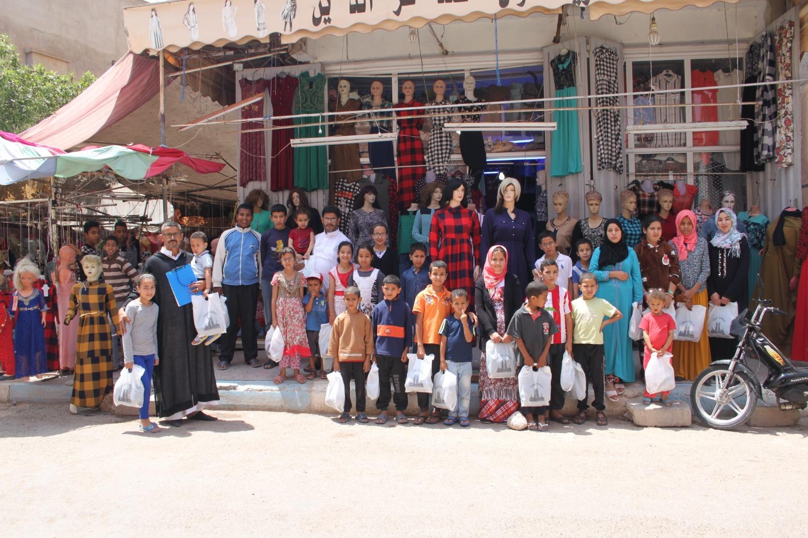 صور المجموعة الثانية من أيتام الجمعية الذين توصلوا بكسوة العيد 67 يتيم