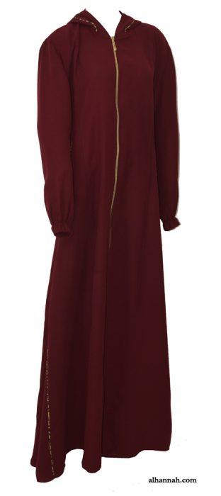 Wajihah Abaya - Moroccan Style Hooded ab672