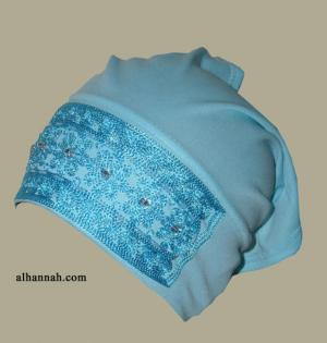 Al Amirah style embroidered and Hand Beaded underscarf  ac171