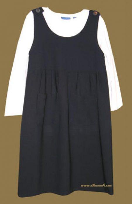 Islamic School Uniform - Classic Pleated Navy Jumper    ch363
