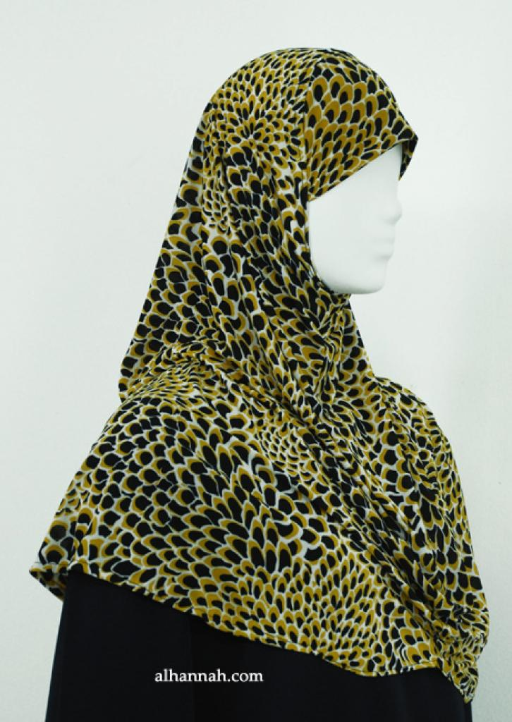 One-piece Printed Al Amirah Hijab hi1893