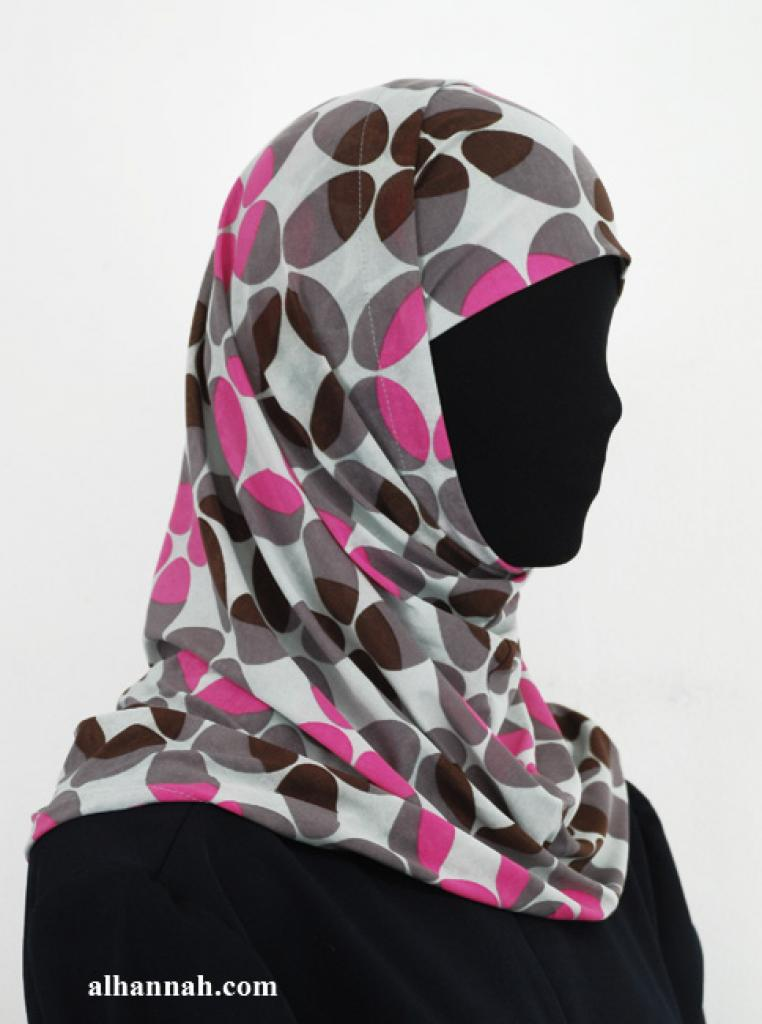 Two Piece Printed Al Amirah Hijab hi1938