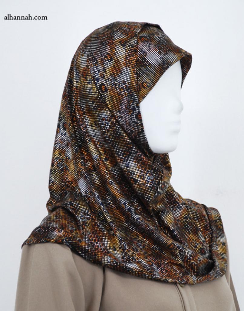 Two Piece Printed Al Amirah Hijab hi1971