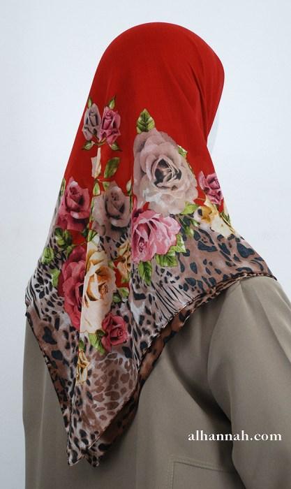 Turkish Floral Printed Hijab hi2004