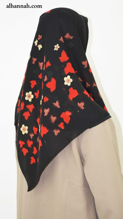 Hijab with Bold Leaves Print  hi2026