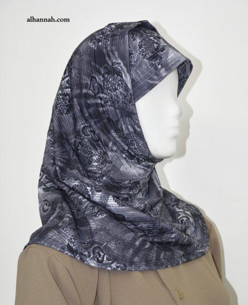 AlAmirah Hijab with Abstract Floral Print hi2038