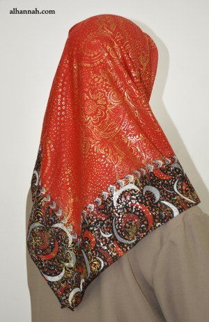 Turkish Abstract Floral Square Hijab hi2056
