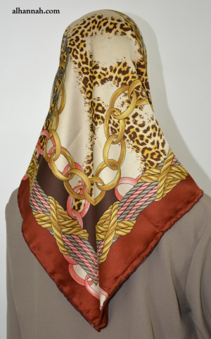 Turkish Satin Square Hijab hi2057