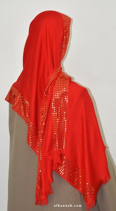 Sequined Muslim Wrap hi2072