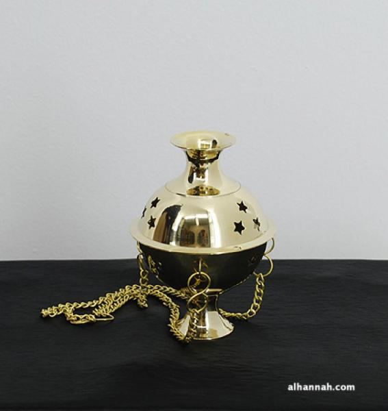 Hanging Brass Incense Burner  ii954