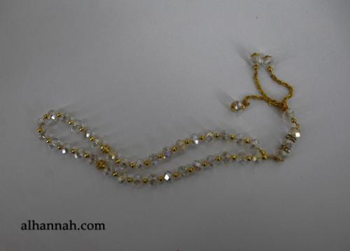 Premium Prismatic Cut-Crystal Prayer Beads ii963