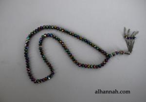 Premium Metallic Cut-Crystal Prayer Beads ii976