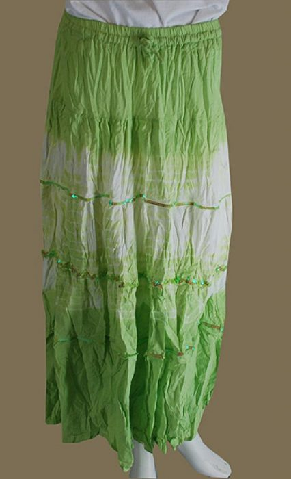 Tie Dyed Broomstick Skirt ji639