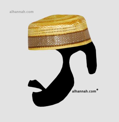 Men's Solid Kufi with Embroidery  me579