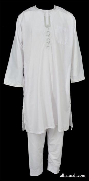 Mens Embroidered Kameez and Pajama Set me693