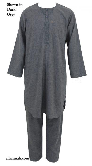 Ikaf Premium Melange Arabian Pants Set me699