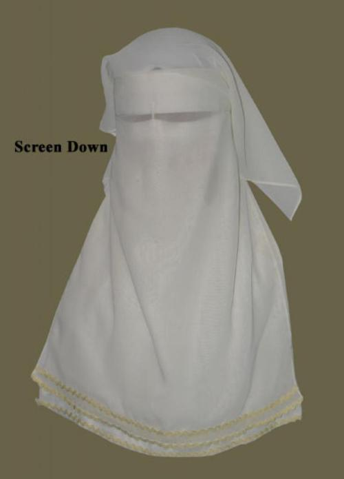 Traditional Saudi style triple layered burqa ni141