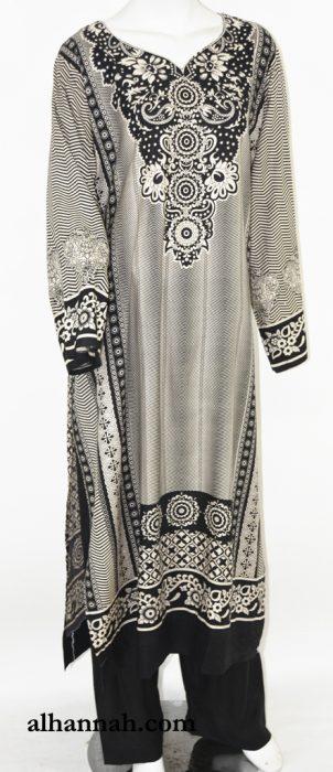 Aishah Salwar Kameez - Deluxe Challis Rayon sk1233