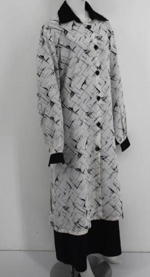 Al Karam Contrast Print Long Tunic  st588