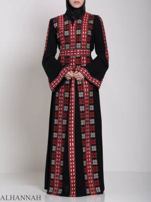 Badra Embroidered Palestinian Fellaha Dress th761 (10)