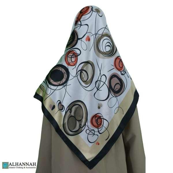 Contemporary Swirls Turkish Satin Hijab hi2080