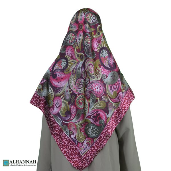 Paisley Turkish Satin Hijab hi2078