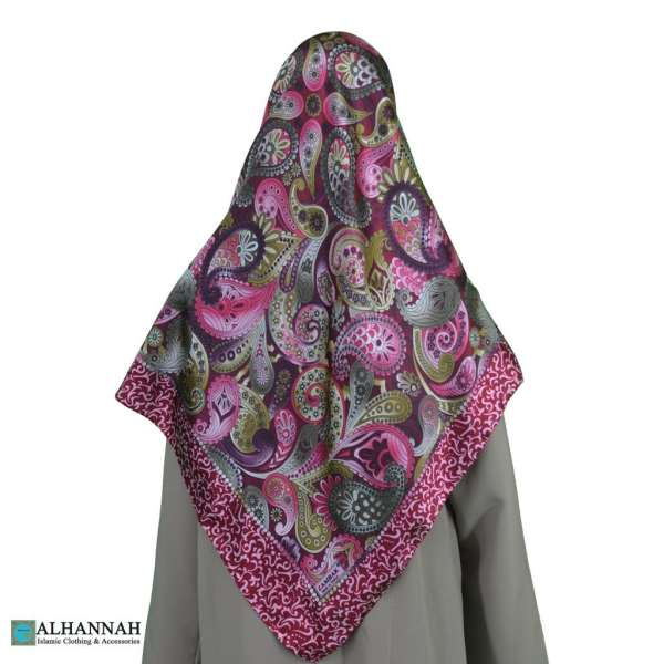Paisley Turkish Satin Hijab hi2078
