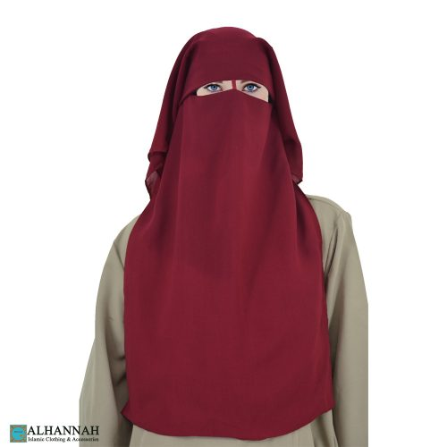 Woman Wearing Saudi Niqab with Nose String