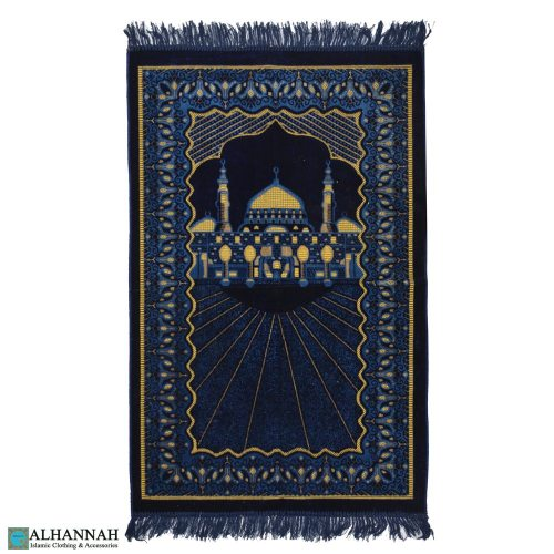Muslim Prayer Rug with Prophets mosque motif