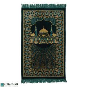 Turkish Prayer Rug with Prophets Mosque