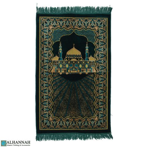 Turkish Prayer Rug with Prophets Mosque