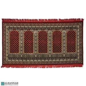 prayer rug 5 person turkish red