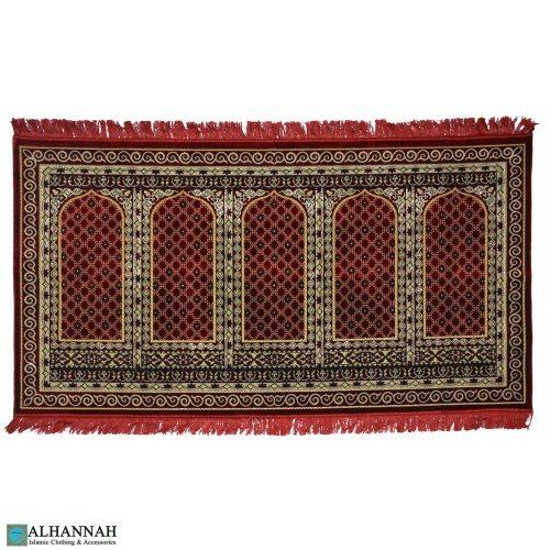 prayer rug 5 person turkish red