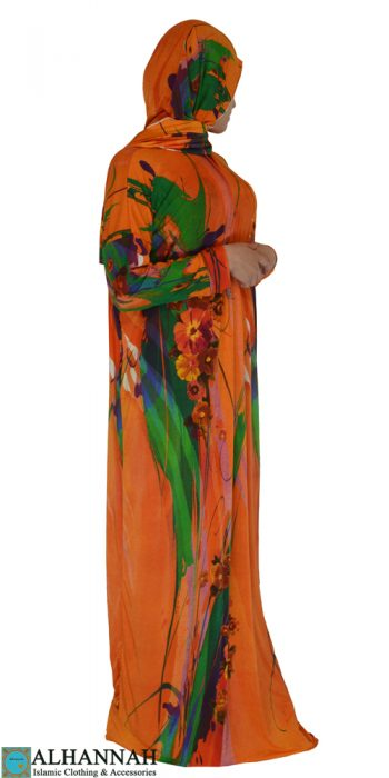 Prayer Outfit 1 piece Tangerine Print
