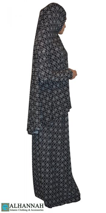 Prayer Outfit Black & White Geo print