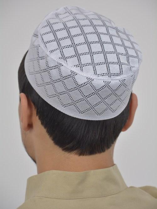 Classic Knit Checkered Kufi ME729