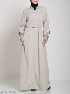Floral Tailored Button-up Jilbab ji660 (4)