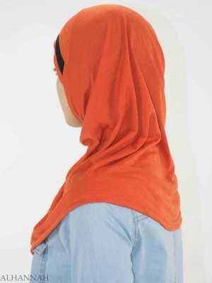 Rhinestone rayado de una sola pieza Al-Amira Hijab HI2135 (3)
